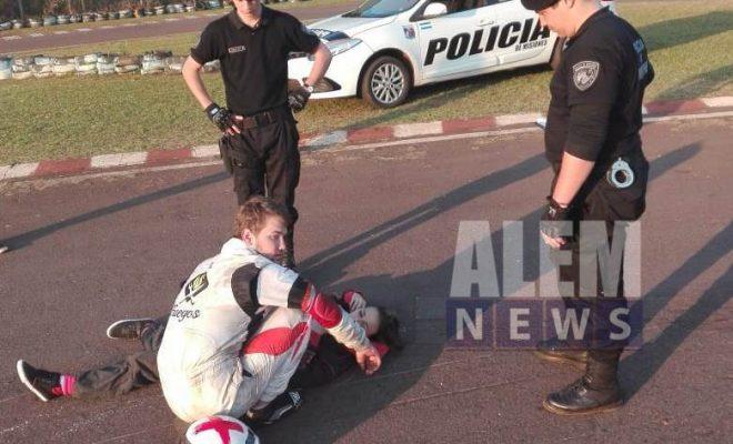 Una lesionada en accidente con un karting en el Complejo Polideportivo