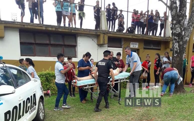 Comando Oeste asistió a niña desvanecida en el Complejo Polideportivo