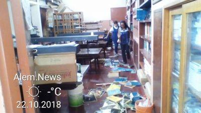 Destrozaron cantina y parte de la biblioteca del Polivalente
