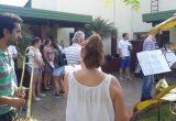 Jóvenes llevaron música y emoción al Hogar Carmelina