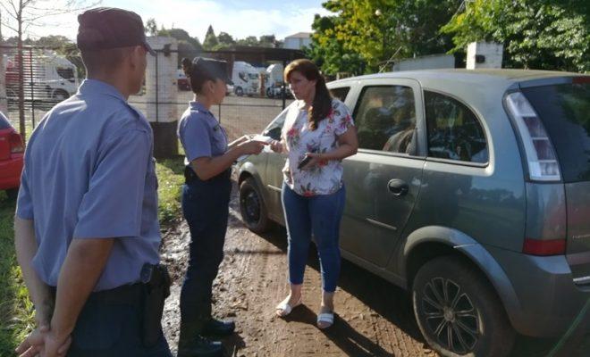 Gracias a la intervención policial, hubo acuerdo con el camionero que se había encadenado