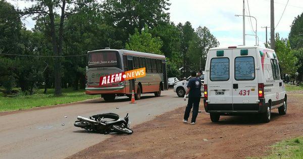 Motociclista alcoholizado chocó a otro sobre Av. Rusia