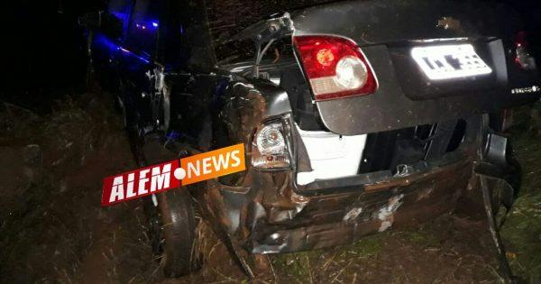 Automóvil derrapó en la Ruta 14