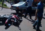 Motociclista embistió a un vehículo que circulaba sin documentación